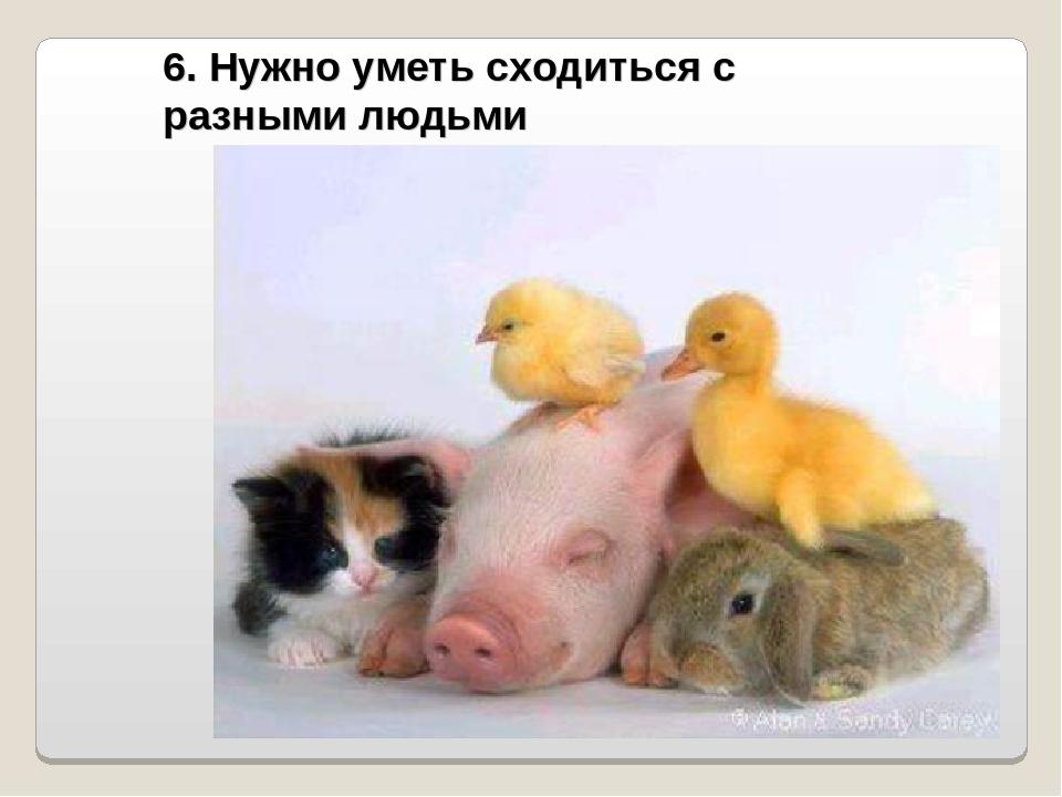 6. Нужно уметь сходиться с разными людьми